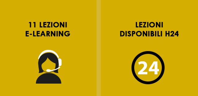 11 lezioni e-learning, Lezioni disponibili h24