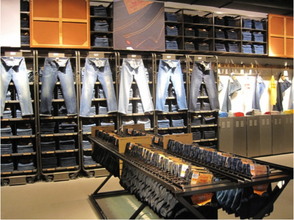 LEVI'S Display per il denim
